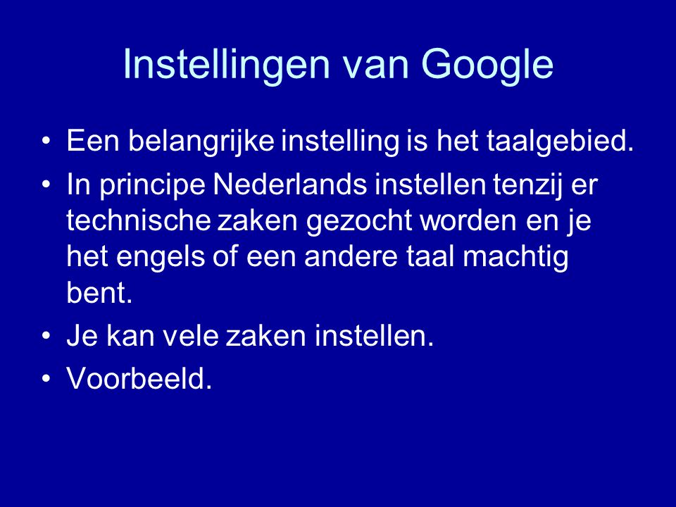 Toolbar Google kan als start pagina ingesteld worden.