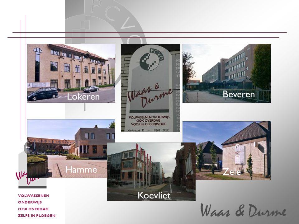 VOLWASSENEN ONDERWIJS OOK OVERDAG ZELFS IN PLOEGEN Waas & Durme Lokeren Hamme Koevliet Beveren Zele