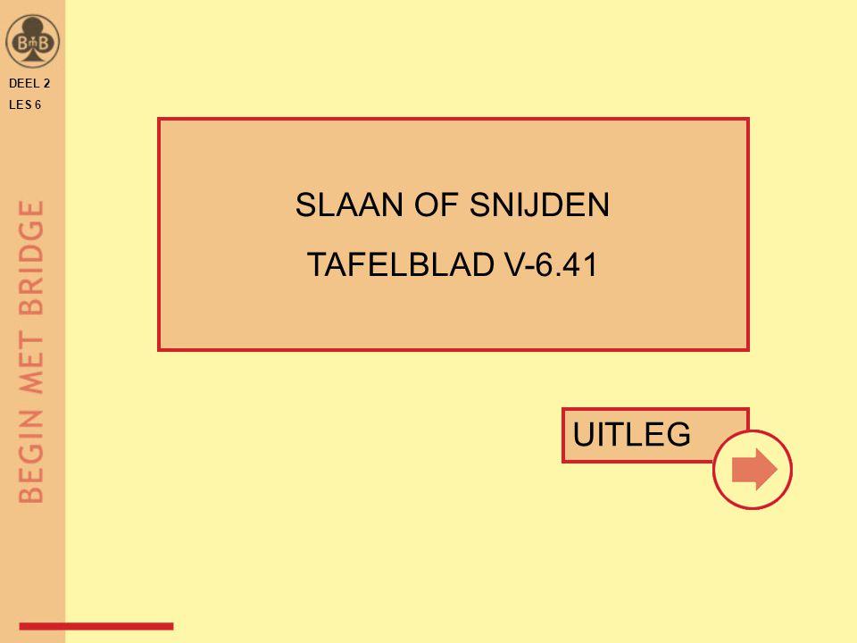 DEEL 2 LES 6 SLAAN OF SNIJDEN TAFELBLAD V-6.41 UITLEG