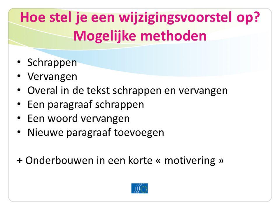 Schrappen Oorspronkelijke tekst: 1.3 De EU zou een ambitieuze tussentijdse doelstelling, nl.