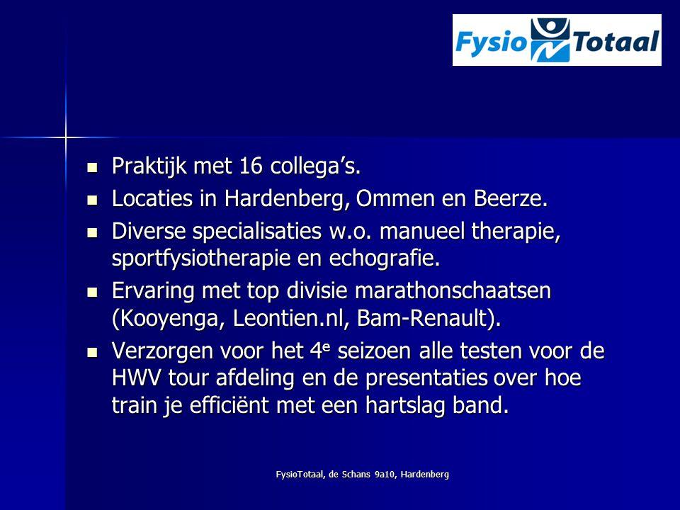 FysioTotaal, de Schans 9a10, Hardenberg Praktijk met 16 collega's. Praktijk met 16 collega's. Locaties in Hardenberg, Ommen en Beerze. Locaties in Har