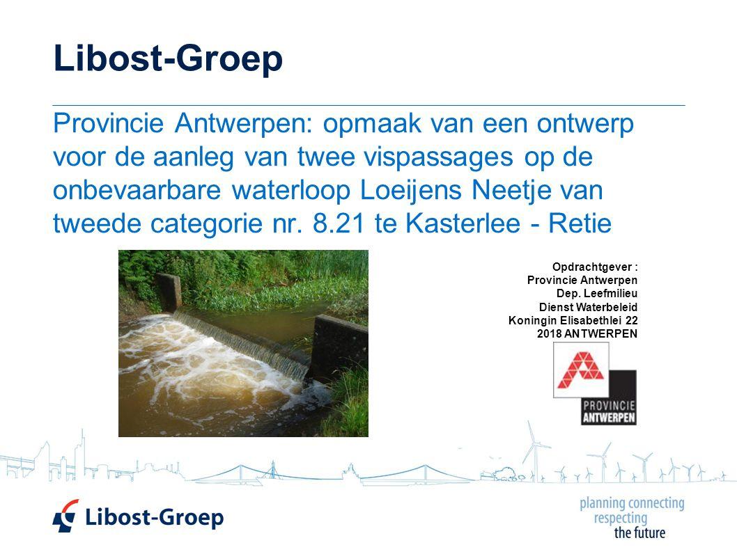 Libost-Groep Provincie Antwerpen: opmaak van een ontwerp voor de aanleg van twee vispassages op de onbevaarbare waterloop Loeijens Neetje van tweede categorie nr.