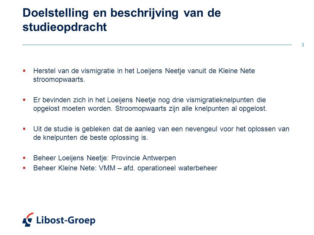 3 Doelstelling en beschrijving van de studieopdracht  Herstel van de vismigratie in het Loeijens Neetje vanuit de Kleine Nete stroomopwaarts.