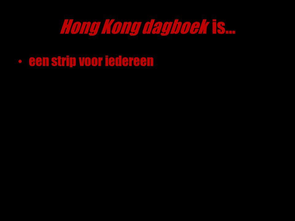 Hong Kong dagboek is… een strip voor iedereen