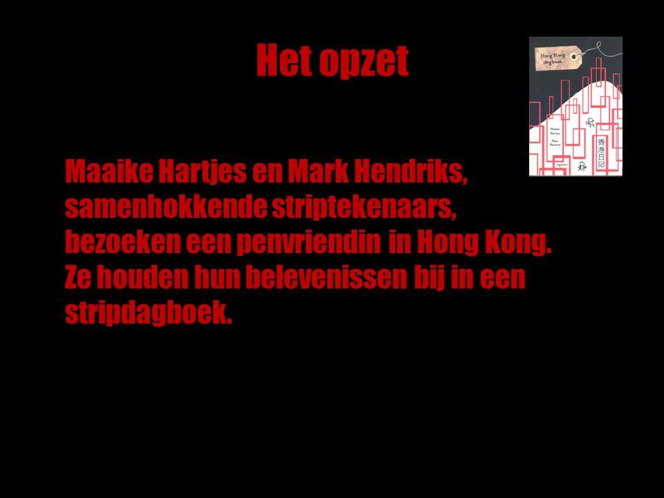 Het opzet Maaike Hartjes en Mark Hendriks, samenhokkende striptekenaars, bezoeken een penvriendin in Hong Kong.