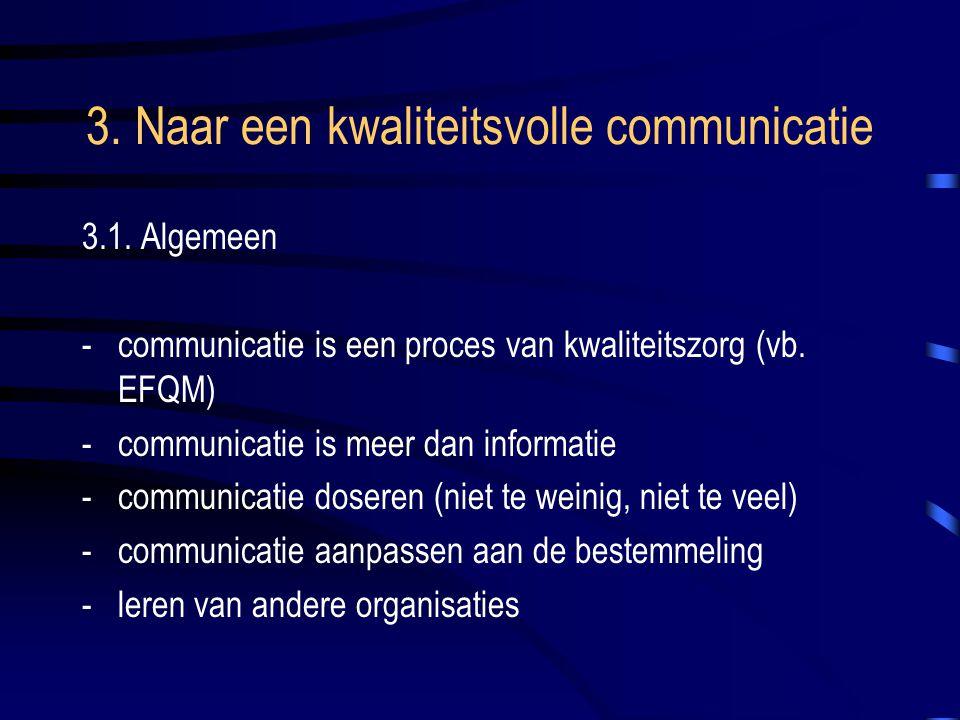 3. Naar een kwaliteitsvolle communicatie 3.1.