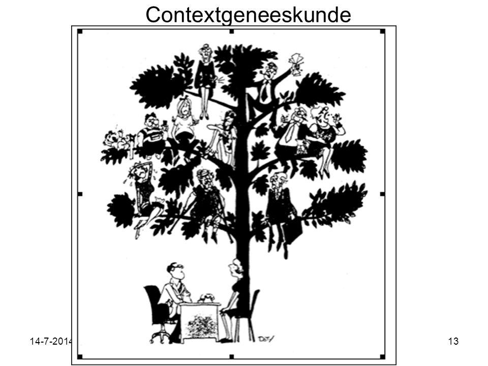14-7-2014Workshop contextgeneeskunde VU 13-10-2013 wf 13 Contextgeneeskunde