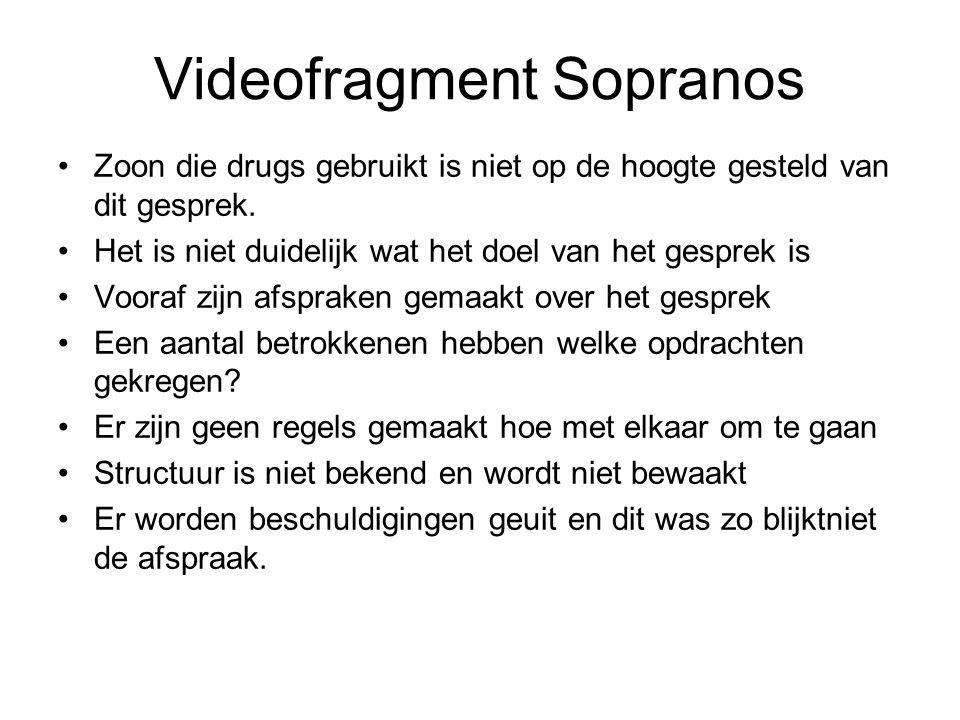 Videofragment Sopranos Zoon die drugs gebruikt is niet op de hoogte gesteld van dit gesprek. Het is niet duidelijk wat het doel van het gesprek is Voo