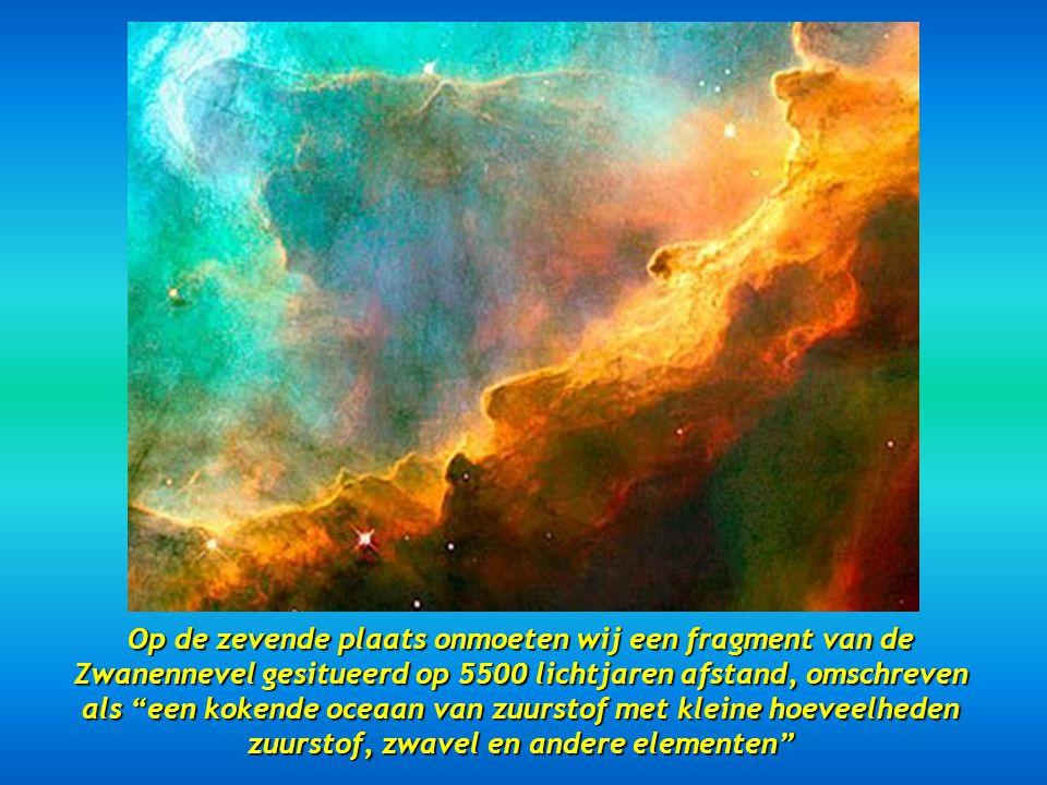 Op de zesde plaats zien wij de Kegelnevel, op 2.500 lichtjaren Op de zesde plaats zien wij de Kegelnevel, op 2.500 lichtjaren