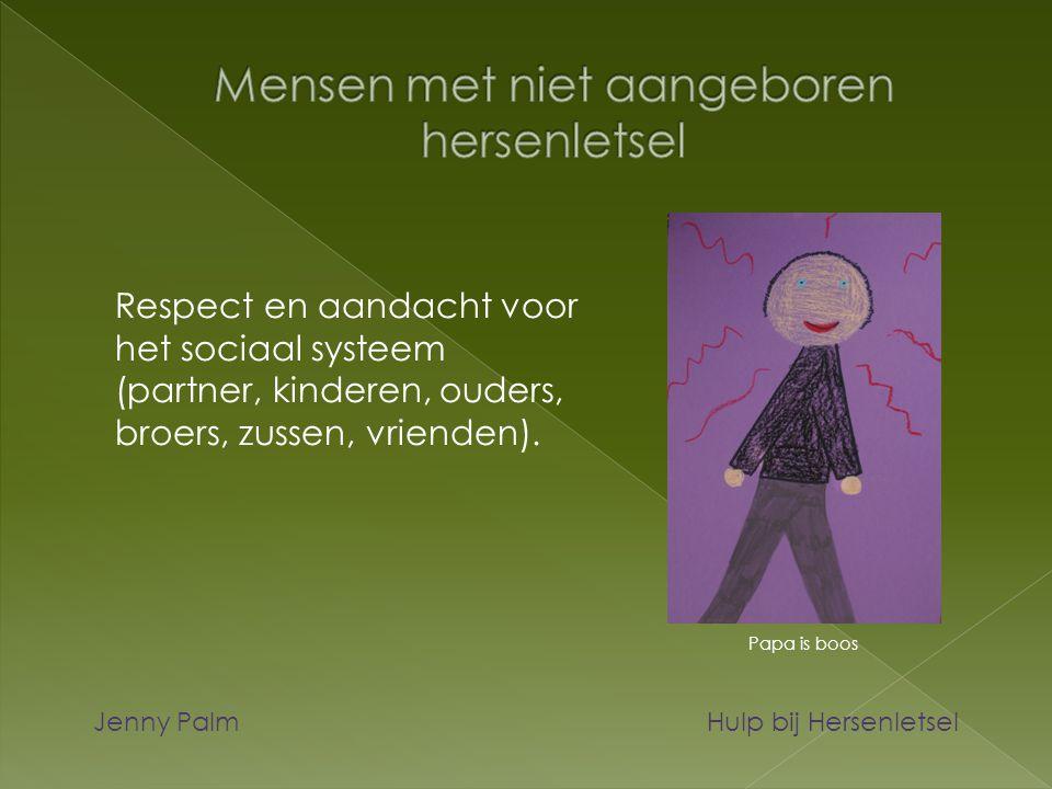 Respect en aandacht voor het sociaal systeem (partner, kinderen, ouders, broers, zussen, vrienden). Jenny Palm Hulp bij Hersenletsel Papa is boos