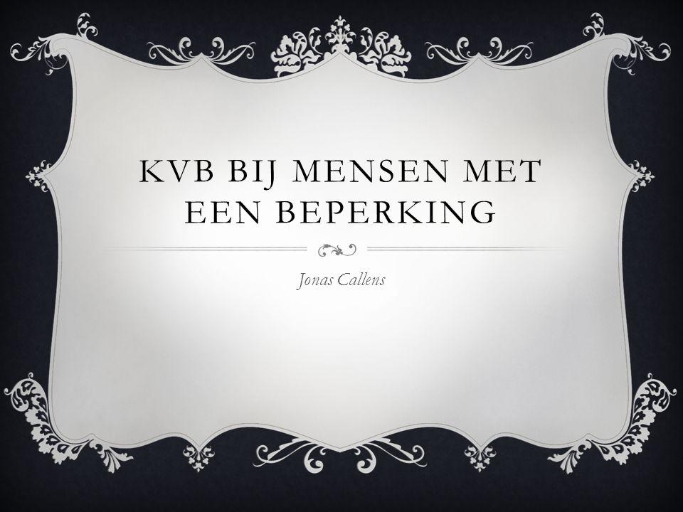 KVB BIJ MENSEN MET EEN BEPERKING Jonas Callens