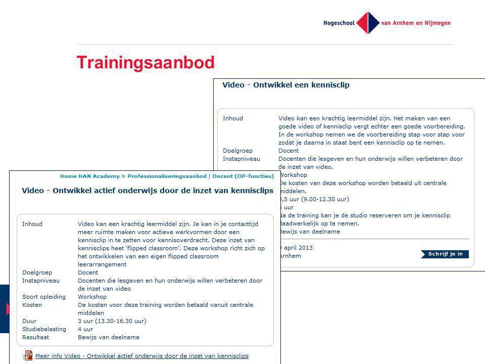 Trainingsaanbod HAN - SCO