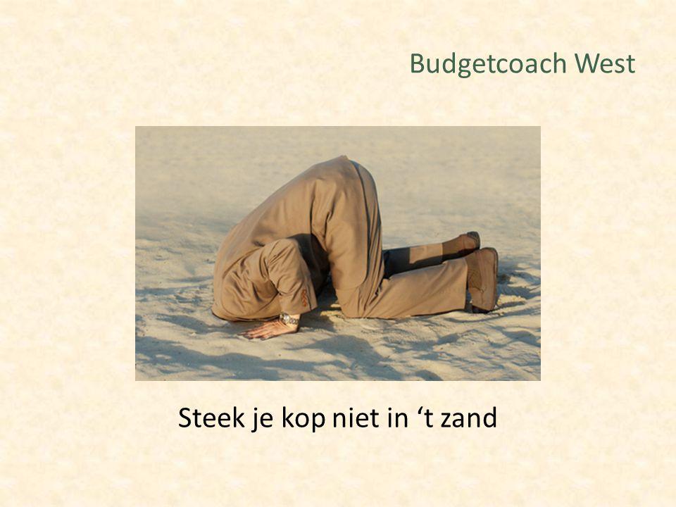 Budgetcoach West Steek je kop niet in 't zand