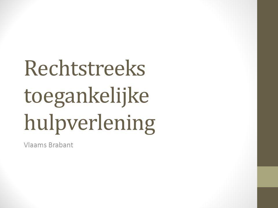 Rechtstreeks toegankelijke hulpverlening Vlaams Brabant