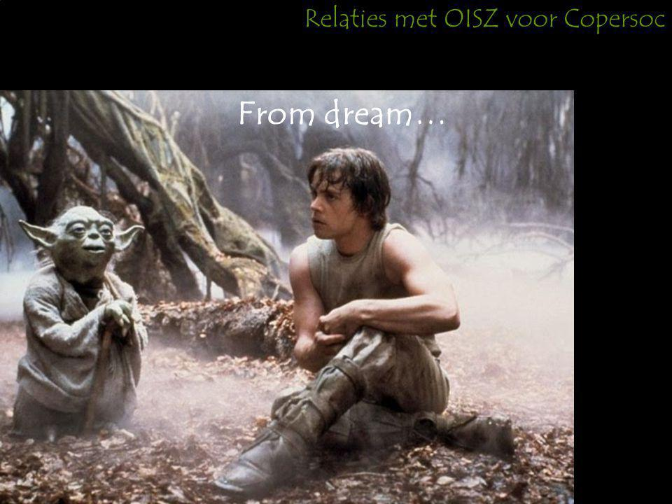 Relaties met OISZ voor Copersoc From dream…