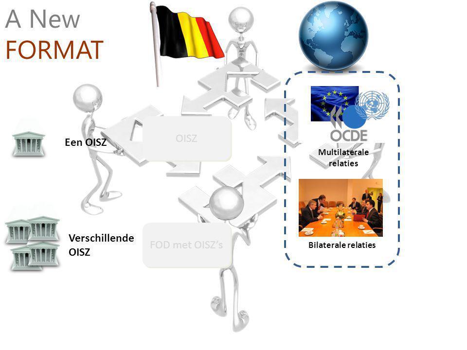 Verschillende OISZ Een OISZ OISZ FOD met OISZ's A New FORMAT Bilaterale relaties Multilaterale relaties