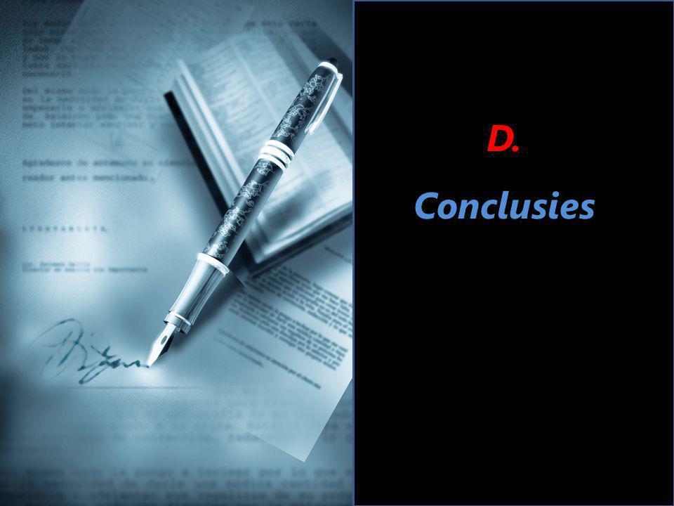 D. Conclusies