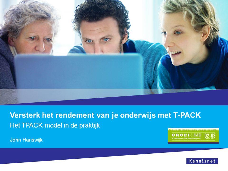 Het TPACK-spel Opdracht 3  Vakinhoud: 'Bedenk een onderwerp'  Didactiek: 'kies een kaartje '  ICT: Bedenk zoveel mogelijk ict-toepassingen Ontwerp een onderwijsactiviteit
