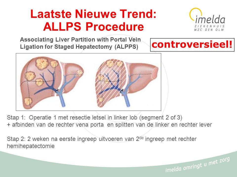 Laatste Nieuwe Trend: ALLPS Procedure Associating Liver Partition with Portal Vein Ligation for Staged Hepatectomy (ALPPS) Stap 1: Operatie 1 met rese