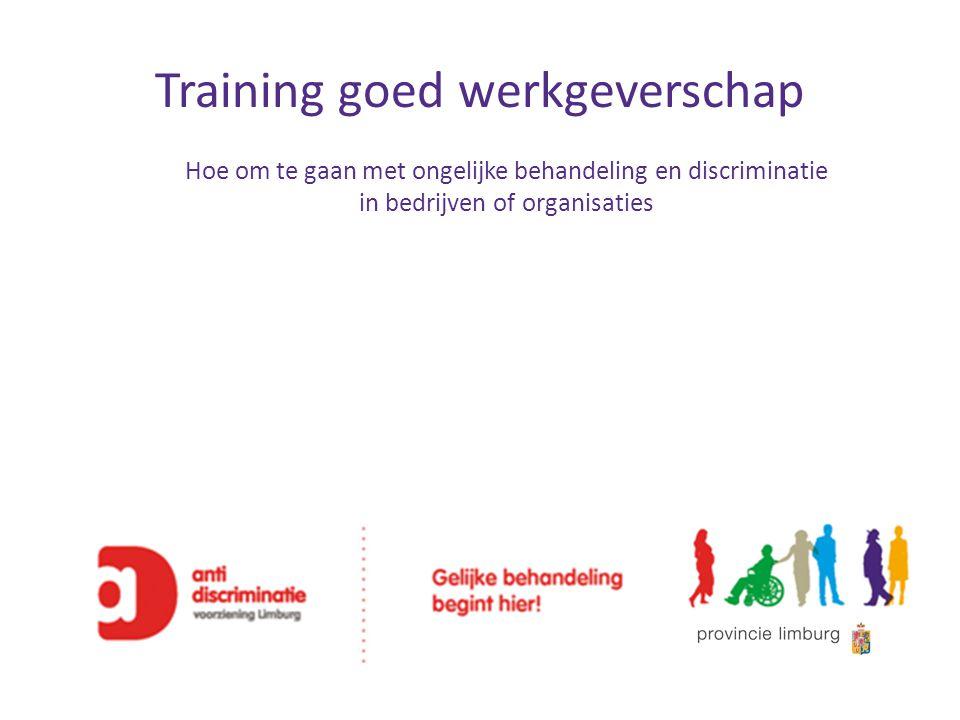 Training goed werkgeverschap Hoe om te gaan met ongelijke behandeling en discriminatie in bedrijven of organisaties