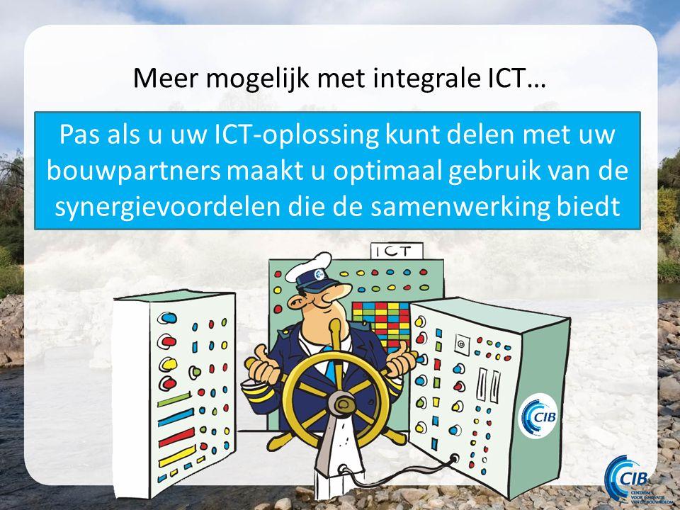 Meer mogelijk met integrale ICT… Pas als u uw ICT-oplossing kunt delen met uw bouwpartners maakt u optimaal gebruik van de synergievoordelen die de samenwerking biedt