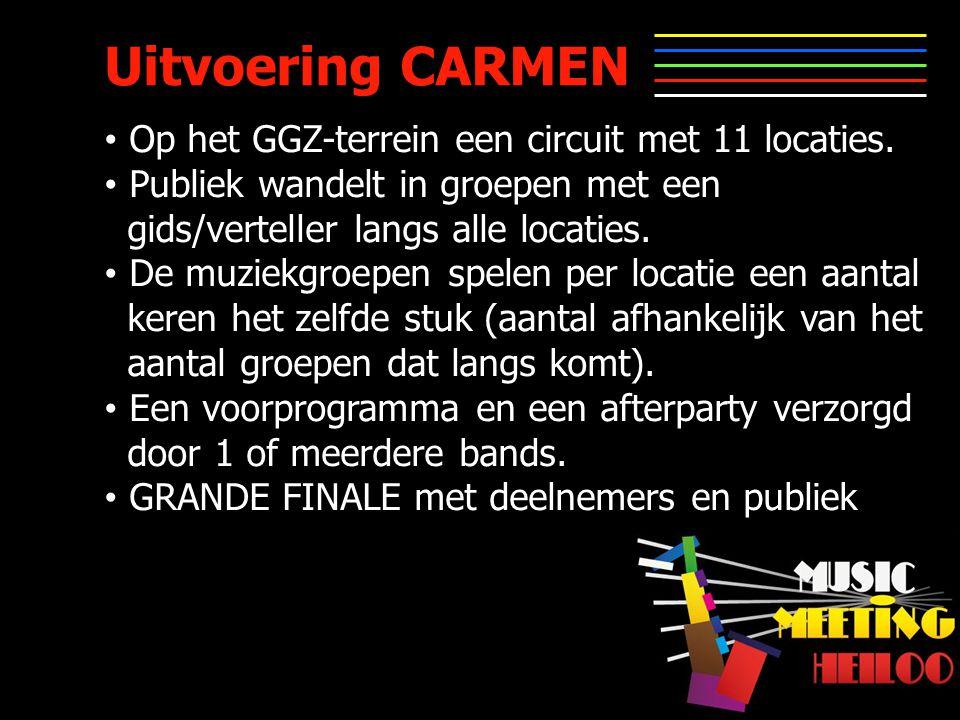 Uitvoering CARMEN Op het GGZ-terrein een circuit met 11 locaties.
