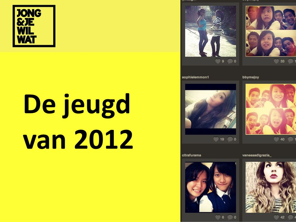 De jeugd van 2012