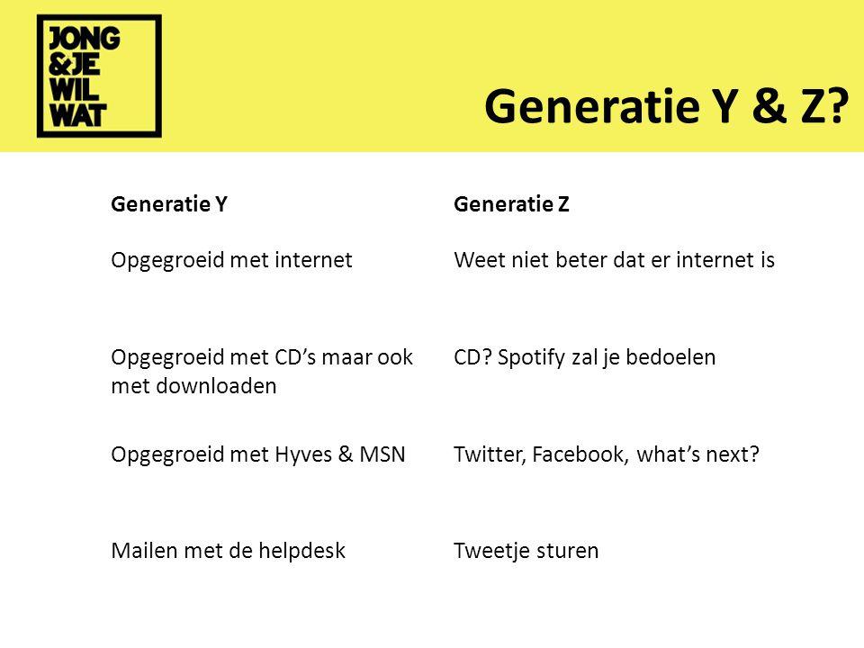 Generatie Y & Z.