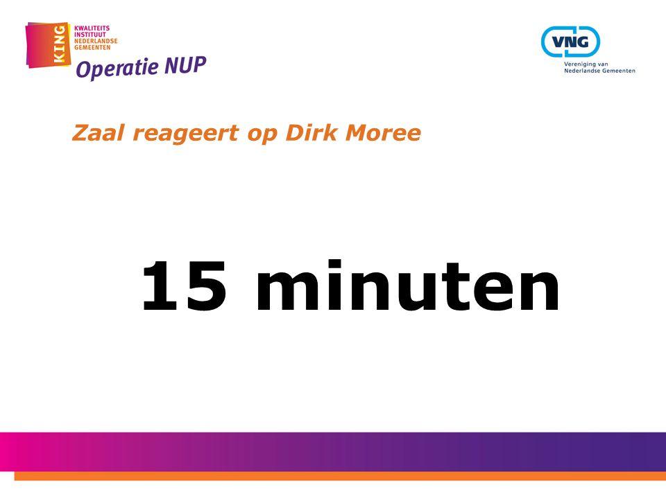 Zaal reageert op Dirk Moree 15 minuten