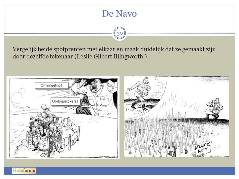 De Navo 30 Vergelijk beide spotprenten met elkaar en maak duidelijk dat ze gemaakt zijn door dezelfde tekenaar (Leslie Gilbert Illingworth ).