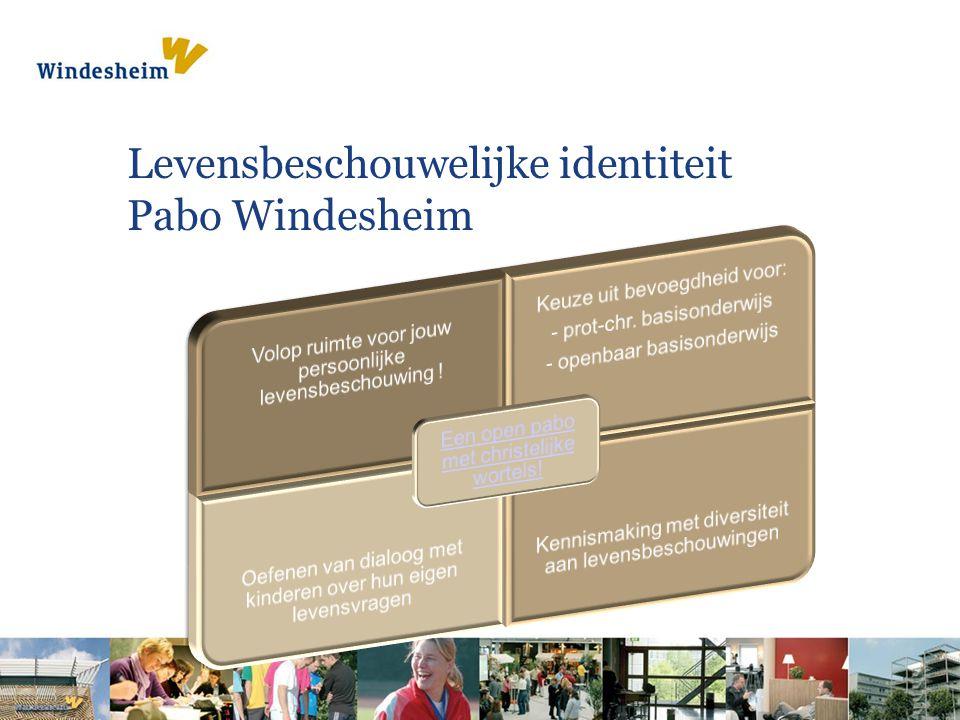 Levensbeschouwelijke identiteit Pabo Windesheim