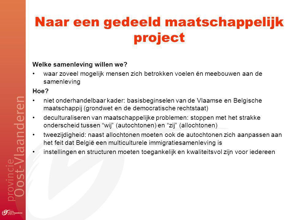 Naar een gedeeld maatschappelijk project Welke samenleving willen we.