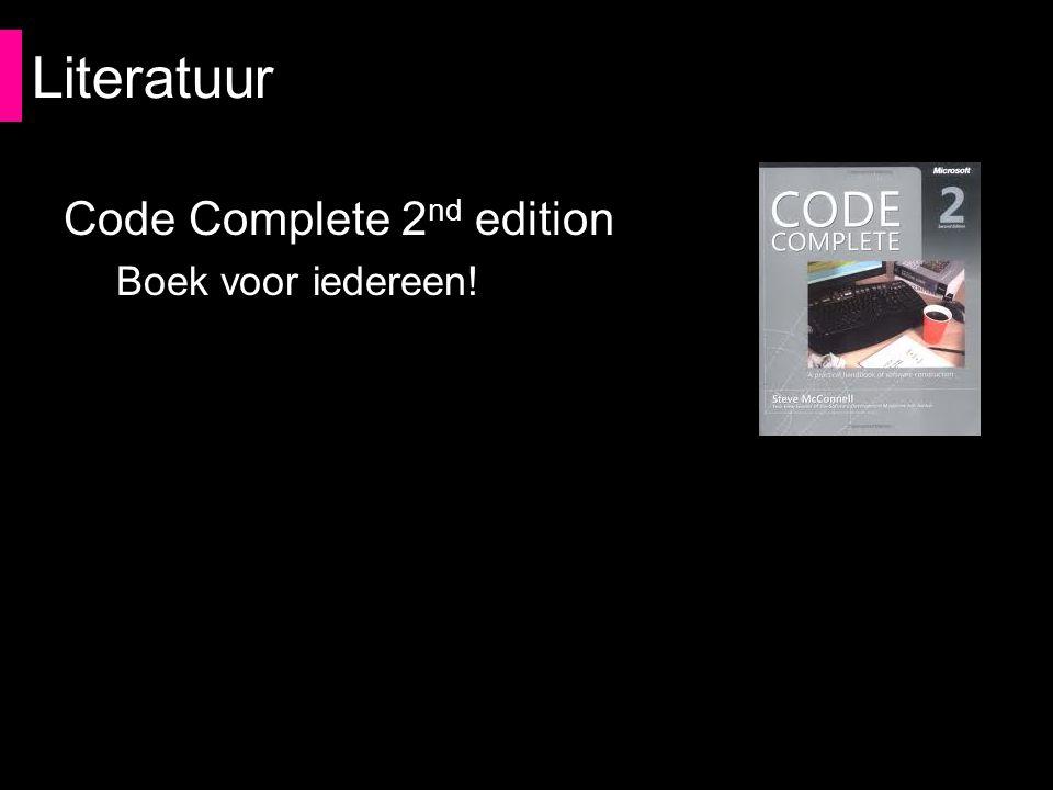 Literatuur Code Complete 2 nd edition Boek voor iedereen!