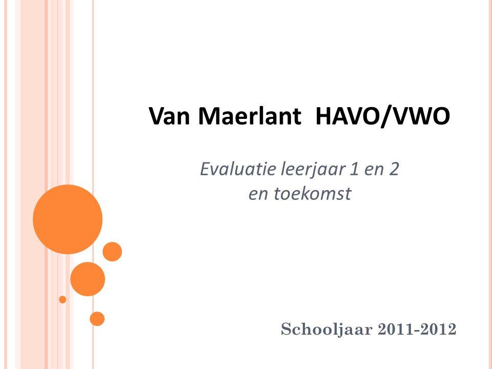 Van Maerlant HAVO/VWO Evaluatie leerjaar 1 en 2 en toekomst Schooljaar 2011-2012