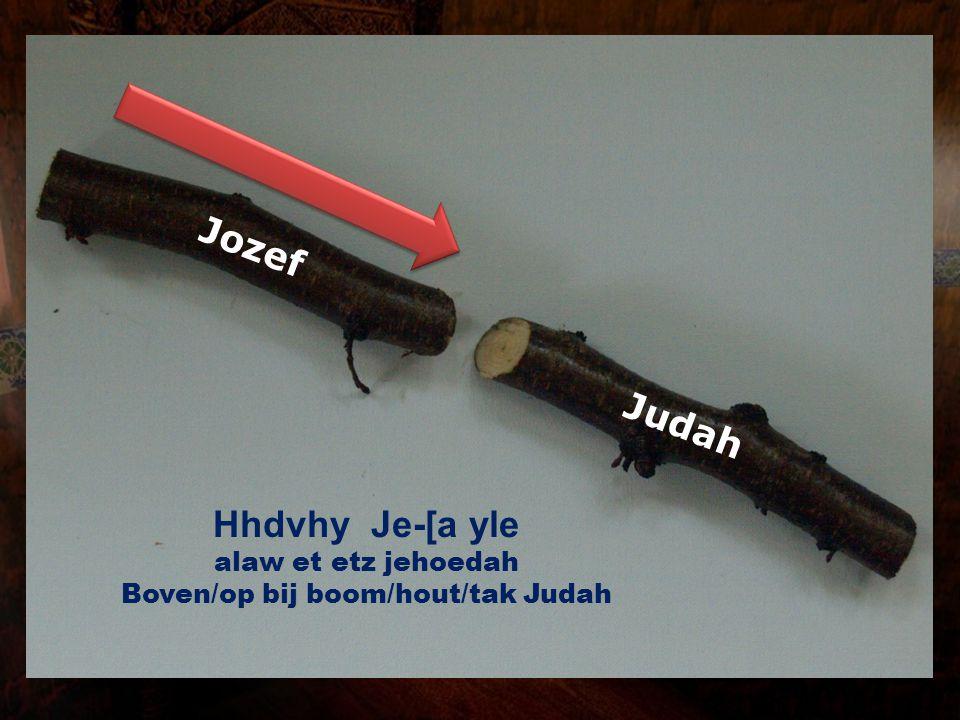 Judah Jozef Hhdvhy Je-[a yle alaw et etz jehoedah Boven/op bij boom/hout/tak Judah