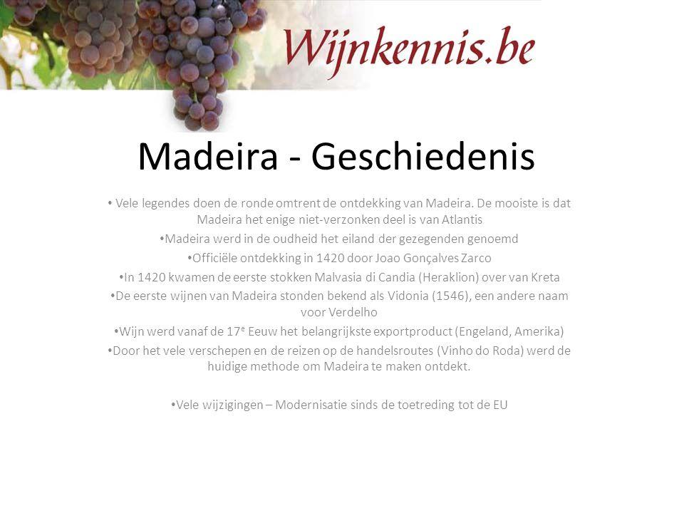 Madeira - Geschiedenis Vele legendes doen de ronde omtrent de ontdekking van Madeira. De mooiste is dat Madeira het enige niet-verzonken deel is van A