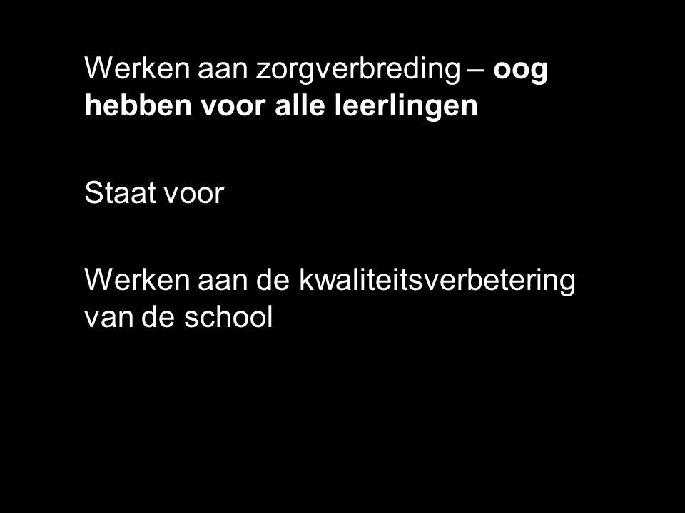 Verantwoordelijken voor het 'zorgbeleid': Hooggemotiveerde collega's met een complex takenpakket Kartrekkers van de vernieuwingen rond zorg op school  Jean Pierre Verhaeghe – Meer gelijke kansen dankzij zorg?