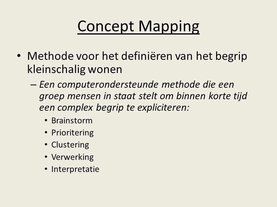 Concept Mapping Methode voor het definiëren van het begrip kleinschalig wonen –E–Een computerondersteunde methode die een groep mensen in staat stelt