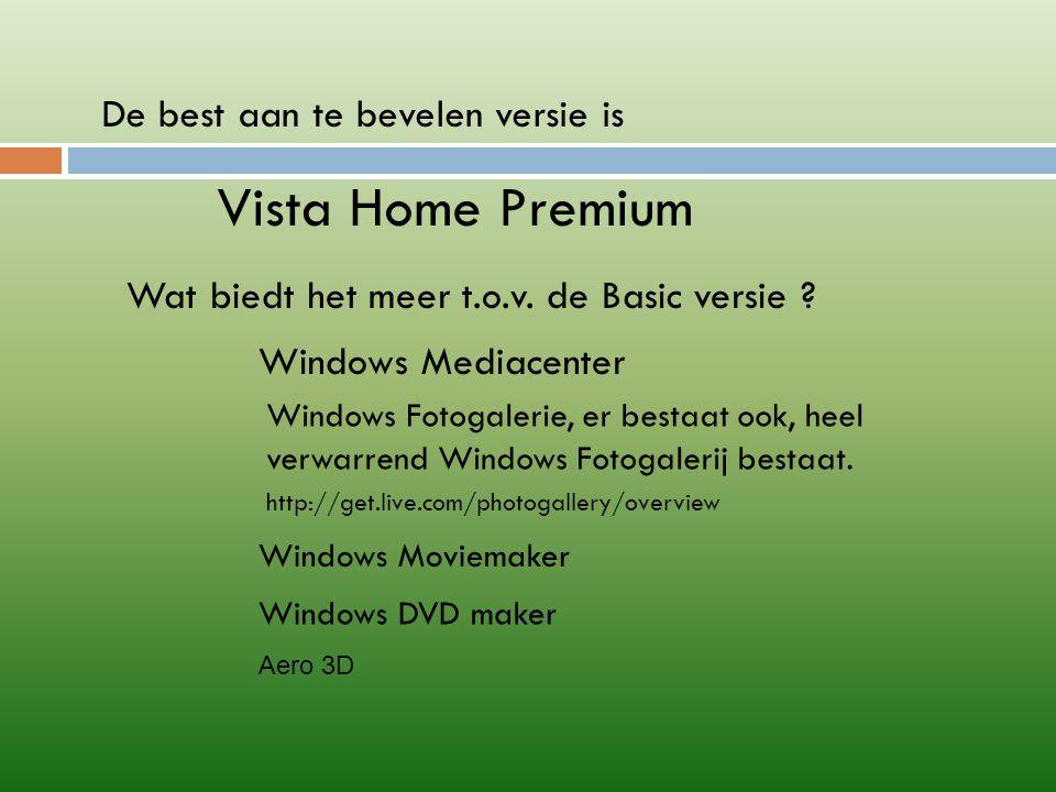 Vista is veiliger In Windows Mail wordt Spam al gefilterd en in een map ongewenste e-mails gestopt.