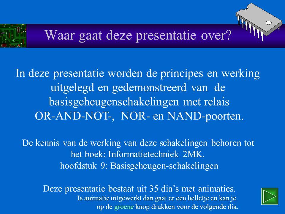 f r i e s l a n d c o l l e g e MKO- opleidingen Elektrotechniek Basisgeheugenschakelingen P.D.v.d.Wal Leeuwarden, feb.