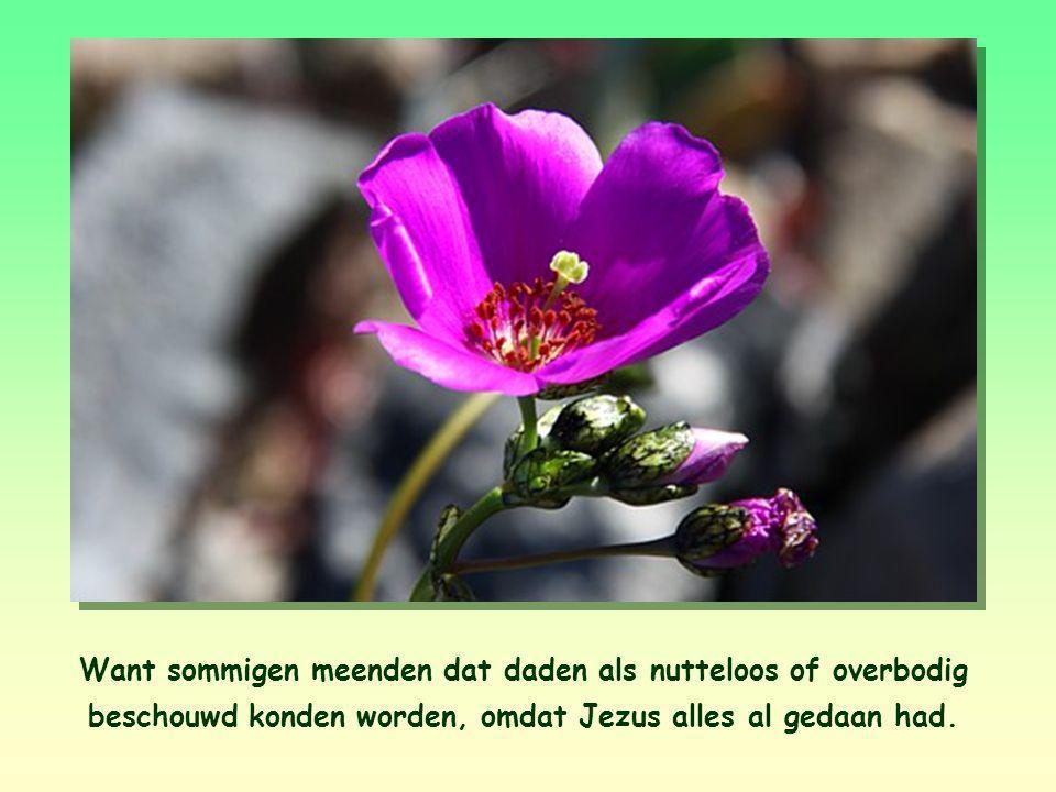 """""""Niet liefhebben met de mond, maar met daden"""", schrijft de apostel Johannes. Hij waarschuwde de christenen voor mensen die hun geloof in Jezus wel met"""
