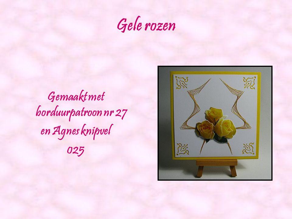 Hobbyshop Agnes rozen Gemaakt met borduurpatroon nr 26 en Agnes knipvel 017