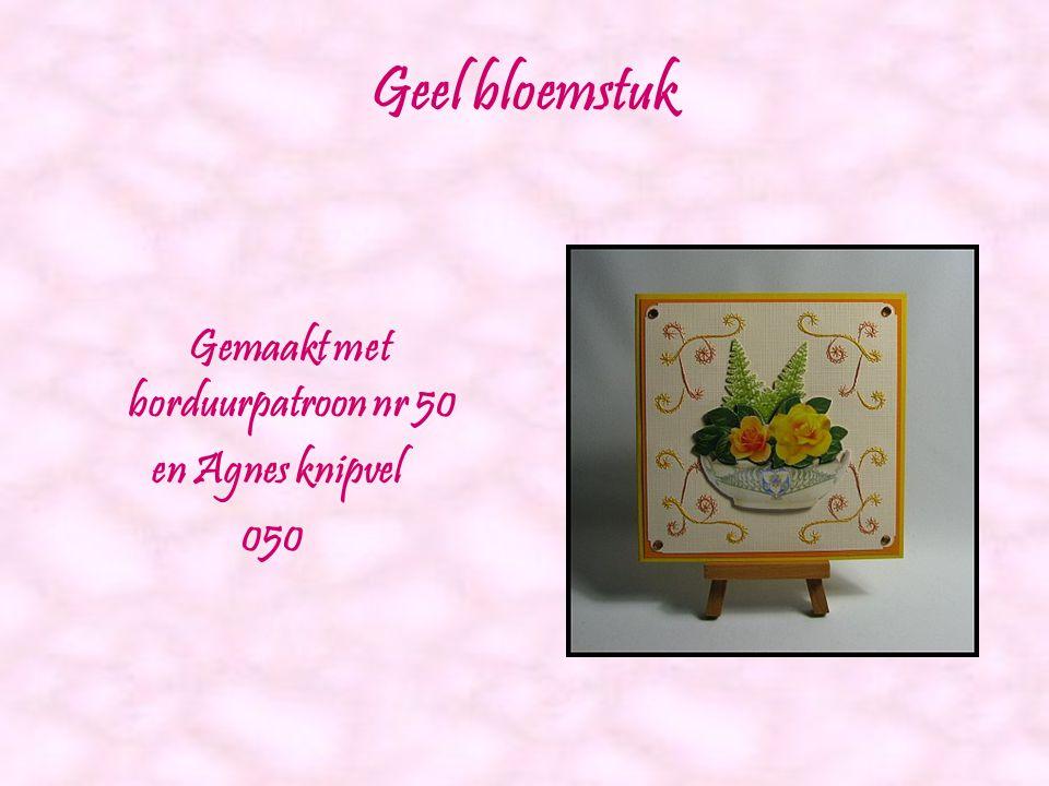 Hartjes met rozen Gemaakt met borduurpatroon nr 40 en Agnes knipvel 035