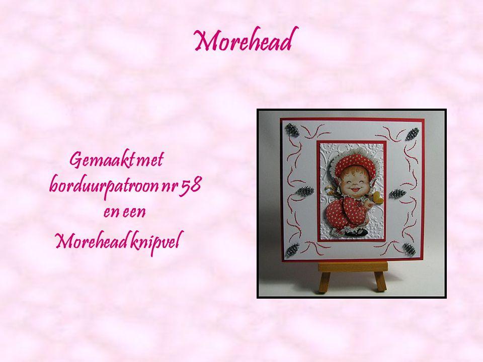 Rode roos Gemaakt met borduurpatroon nr 57 en Agnes knipvel 028