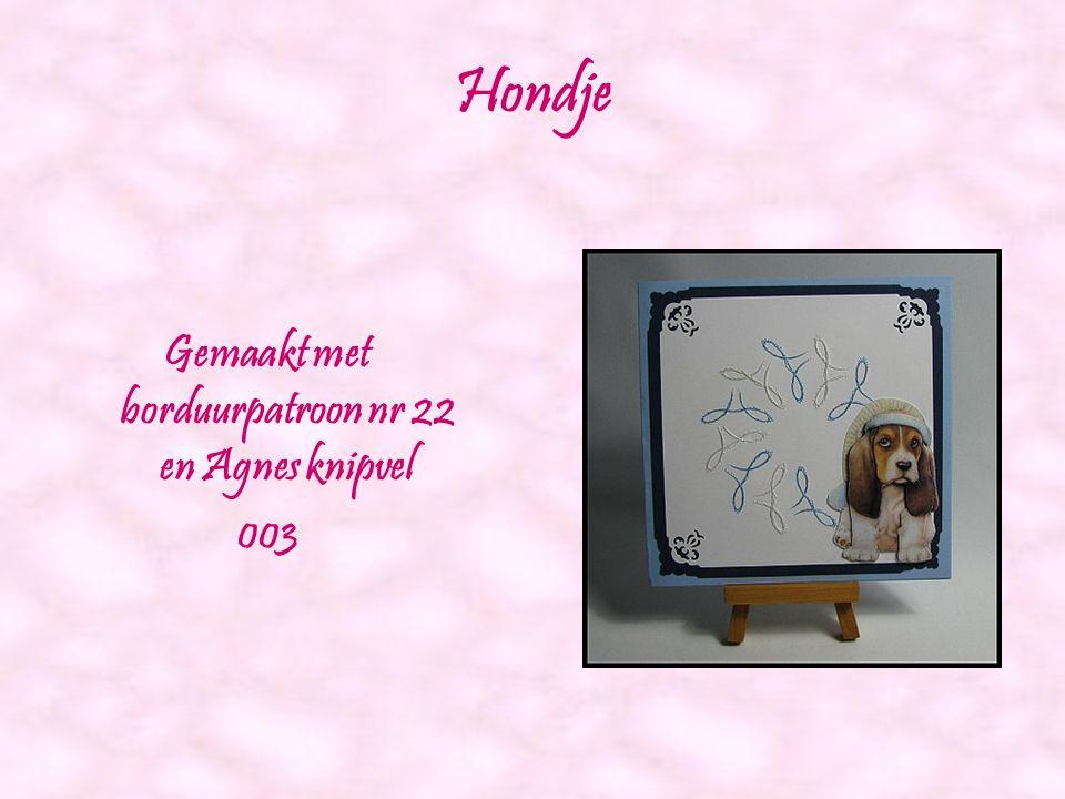 Cowboy Gemaakt met borduurpatroon nr 18 en Agnes knipvel 013