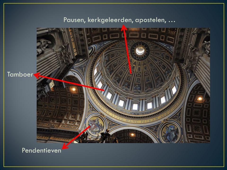 Pausen, kerkgeleerden, apostelen, … Tamboer Pendentieven