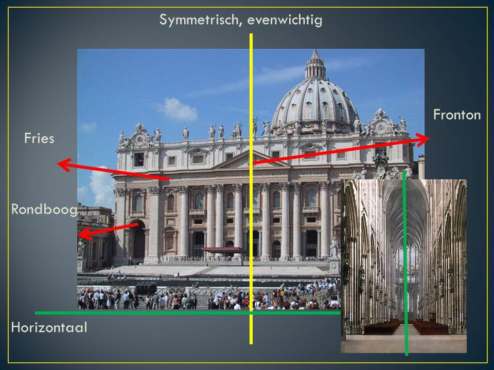 Symmetrisch, evenwichtig Fronton Fries Rondboog Horizontaal