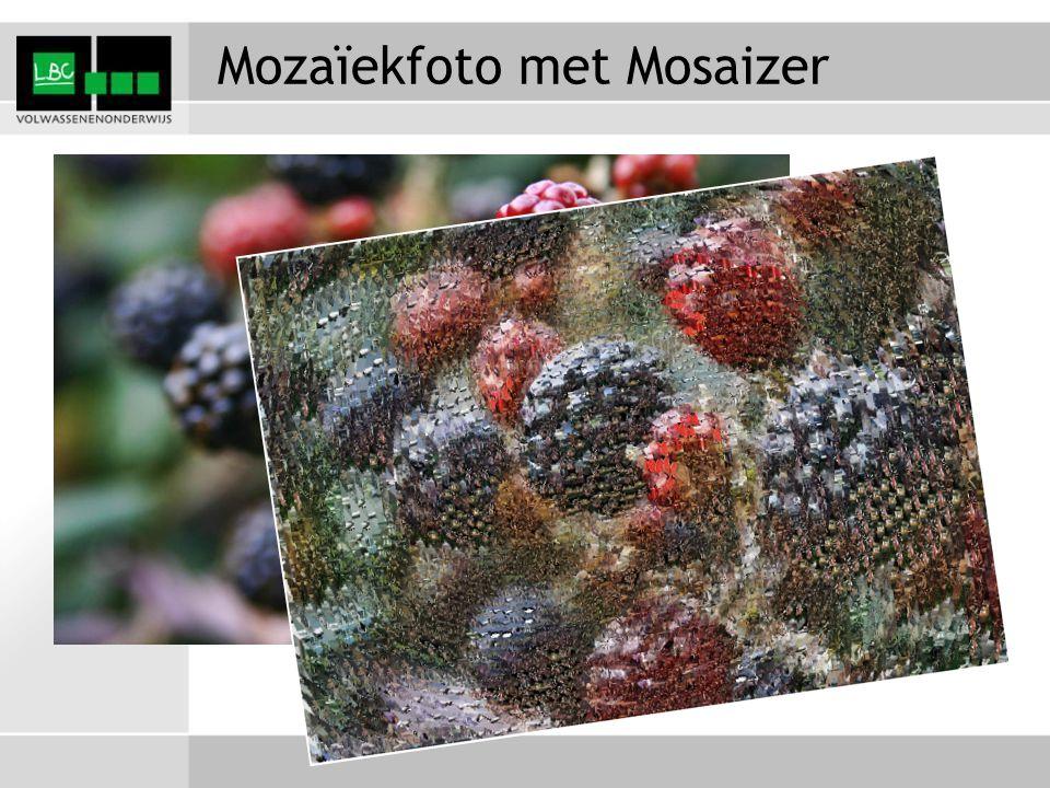 Mozaïekfoto met Mosaizer