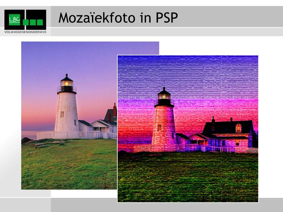 Mozaïekfoto in PSP
