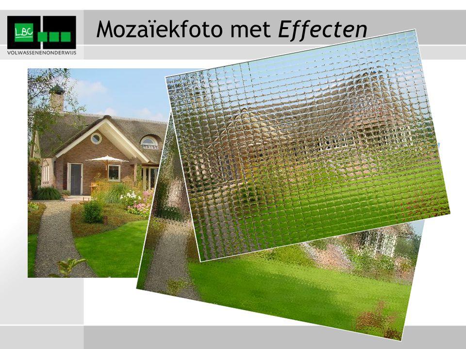 Mozaïekfoto met Effecten